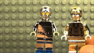 lego star wars chrome tc-14 droid exclusive minifigure review