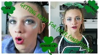 getlinkyoutube.com-GETTING READY FOR CHEER COMPETITION!