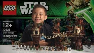 getlinkyoutube.com-EWOK VILLAGE - LEGO Star Wars Set 10236 Time-lapse, Unboxing & Review