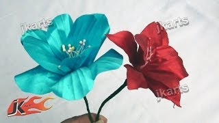getlinkyoutube.com-DIY  Flower from Satin Ribbon JK Arts 210