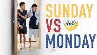 Sunday vs Monday