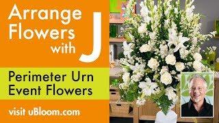 getlinkyoutube.com-How To Arrange Flowers:  Perimeter Urn Arrangement!