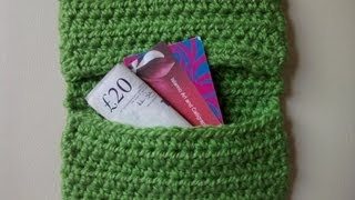 How to Crochet a Credit Card Purse - Easy