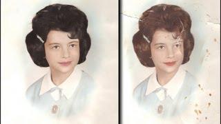 getlinkyoutube.com-Photoshop - A Complete Photo Restoration (NEW)