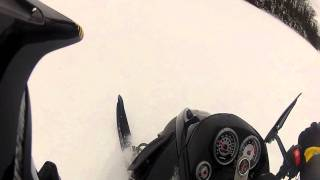 getlinkyoutube.com-Ski Doo Mach Z 1000 Blows Lower Crank Bearing just driving on lake!