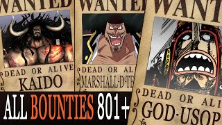 getlinkyoutube.com-All Bounties updated to chapter 801+ in ONE PIECE