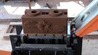 getlinkyoutube.com-Startop Interlocking Brick Model: ST-M104 Manual machine เครื่องอัดบล็อกประสานแบบมือโยก(ลายข้าง)