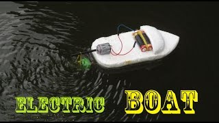 getlinkyoutube.com-How to make an Electric Boat very easy | Making toy