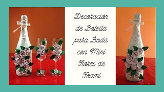 getlinkyoutube.com-Sencilla decoración botella para bodas Simple bottle decoration for weddings