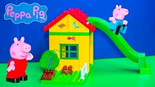 getlinkyoutube.com-PEPPA PIG Nickelodeon Peppa Pig Construction Block Set with Good Dinosaur Toys Video Unboxing