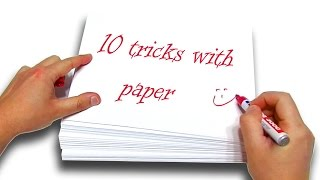 getlinkyoutube.com-✔ TOP 10+1 BEST Tricks With Paper