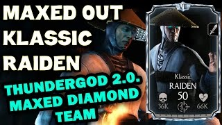 getlinkyoutube.com-Klassic Raiden MAXED OUT in MKX Mobile 1.9. All stats and special moves!