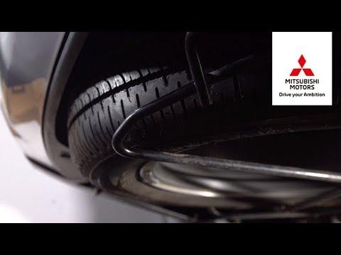 Как быстро и просто снять запасное колесо Mitsubishi Outlander. Mitsubishi motors от А до Я
