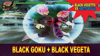 getlinkyoutube.com-Goku Black and Black Vegeta Fusion | Black Vegetto Rose | DBZ Tenkaichi 3 (MOD)