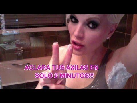 ACLARA y BLANQUEA  tus AXILAS en solo 2 MINUTOS!!! RESULTADO INMEDIATO!!!
