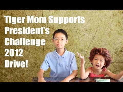 Tiger Mom Kee Chiew for President's Challenge 2012 Volunteer Drive