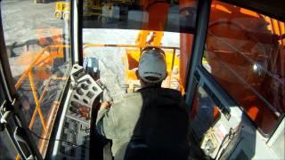 getlinkyoutube.com-Cab Cam: Hitachi EX1800 Excavator