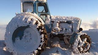 По Бездорожью зимой на тракторе. Подборка