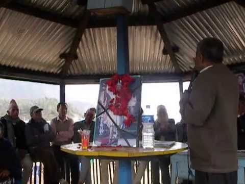 RPP Nepal Co-chairman Padma Sunder Lawoti addressing Panchthar Constituency-1 convention