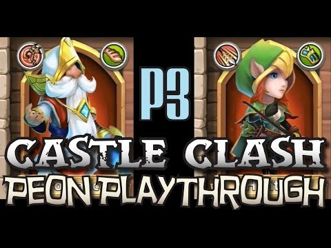 Castle Clash Peon 3: Mustache Man vs Hoochie Mama - Peon Playthrough P3
