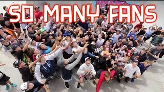 ATTACKED BY FANS AT MASSIVE SCOOTER COMPETITION