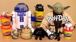 getlinkyoutube.com-Play Doh STAR WARS R2-D2 Playset Darth Mater Lightning McQueen The Clone Wars Disney Pixar Cars 2