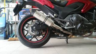 Honda NC750X Leovince LV ONE EVO exhaust with DB