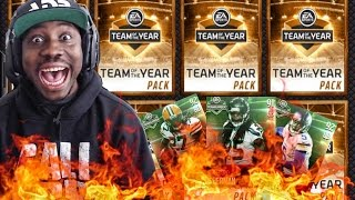 TEAM OF THE YEAR PACK OPENING ON FIRE! Madden NFL 16 Mobile Gameplay TOTY