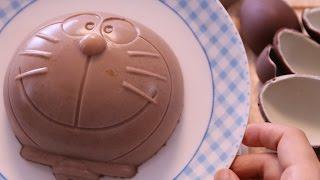 getlinkyoutube.com-Doraemon Surprise Egg Chocolates Pudding ドラえもん チョコエッグプリン