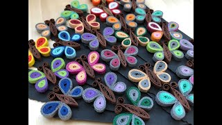 getlinkyoutube.com-✿ Quilling - Fluture - Tutorial 7 - AidaCrafts