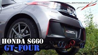 getlinkyoutube.com-S660 マフラーサウンド 4本出し GT-FOUR ロッソモデロ 排気音 HONDA