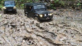 getlinkyoutube.com-Best of autumn 2015 Land Rover defender & niva/ Дефендер 110 и НИВА на бездорожье продолжение