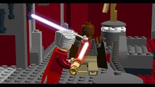 getlinkyoutube.com-LEGO Mace Windu, Kit Fisto, Seasee Tinn & Agen Kolar vs Chancelier Sheev Palpatine (Coruscant)