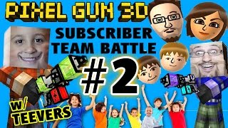getlinkyoutube.com-Let's Play Pixel Gun w/ MORE Teevers! Part 2 FGTEEV Subscriber Team Battles! w/ Mike & Dad Face Cam