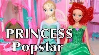 getlinkyoutube.com-Play-Doh Frozen BARBIE Princess POPSTAR Travel Doll House Dream Home Elsa Ariel AllToyCollector