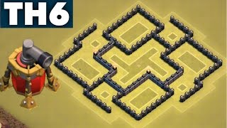 getlinkyoutube.com-Best UNDEFEATED New Town Hall 6 (TH6) War/Trophy Base with Air Sweeper | Clash of Clans
