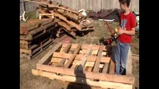 getlinkyoutube.com-home made  DIY Pallet Dismantler
