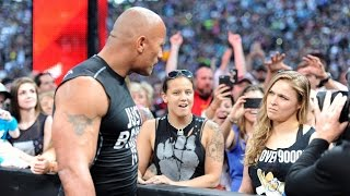 getlinkyoutube.com-The Rock and Ronda Rousey make surprise appearance at WrestleMania 31.Watch Video