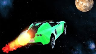 ROCKET CAR SPACE MISSION! (GTA 5 Funny Moments)