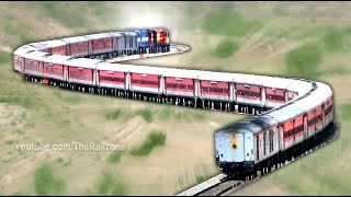 One of the DEADLIEST Curves | Transition Horseshoe | Indian Railways