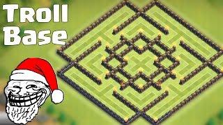 getlinkyoutube.com-Clash of clans - Town hall 9 (TH9) Troll Base - Best Protect Dark Elixir