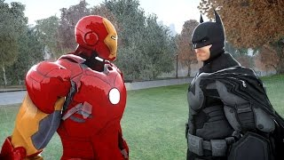 getlinkyoutube.com-BATMAN VS IRON MAN - EPIC SUPERHEROES BATTLE