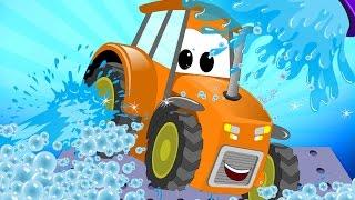 getlinkyoutube.com-Tractor | Car Wash For Kids | Learn Transport | Teach Vehicles