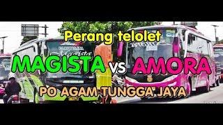 "getlinkyoutube.com-Perang telolet Bus Agam Tungga Jaya | ""Magista"" versus ""Amora"""