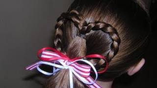 getlinkyoutube.com-Heart Ponytail Hairstyle