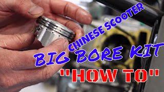 getlinkyoutube.com-How to install a big bore kit on a chinese scooter qmb139  gy6 Kymco Agility taotao rocketa puma