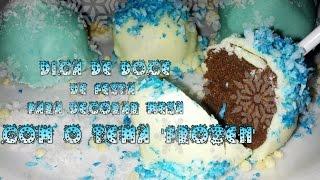 getlinkyoutube.com-Dica de doce para decoração de festa 'FROZEN' - CAKE POP