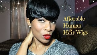 getlinkyoutube.com-Afforable human Hair wigs by Sensationnel bump wig Feather Charm