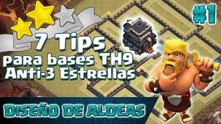¡7 Características de una Base Anti-3 Estrellas! | Diseño de Aldeas TH9 #1 | Estrategia ClashofClans