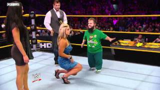 getlinkyoutube.com-WWE NXT Rookie Diva Challenge Kissing-Contest 1/2